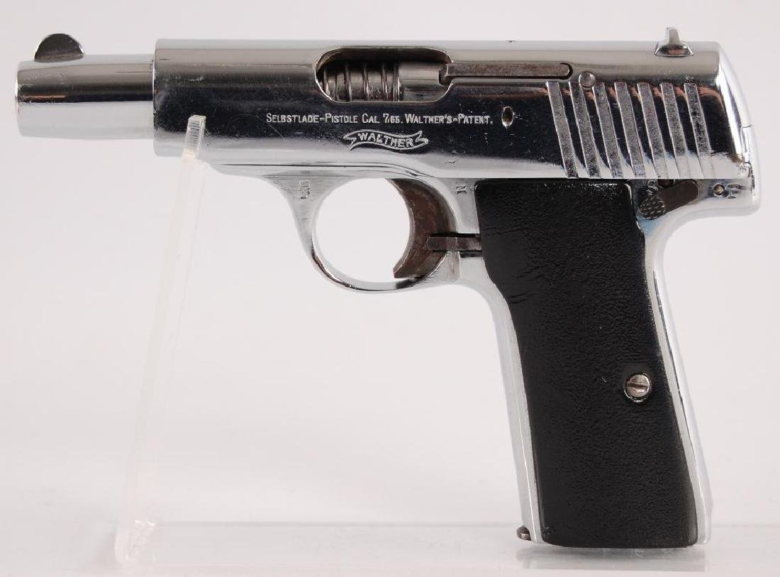 Walther Model 4 7.65mm Nickel Plated Semi Automatic