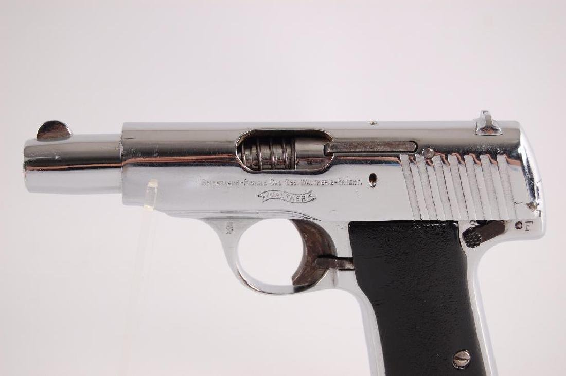 Walther Model 4 7.65mm Nickel Plated Semi Automatic - 2