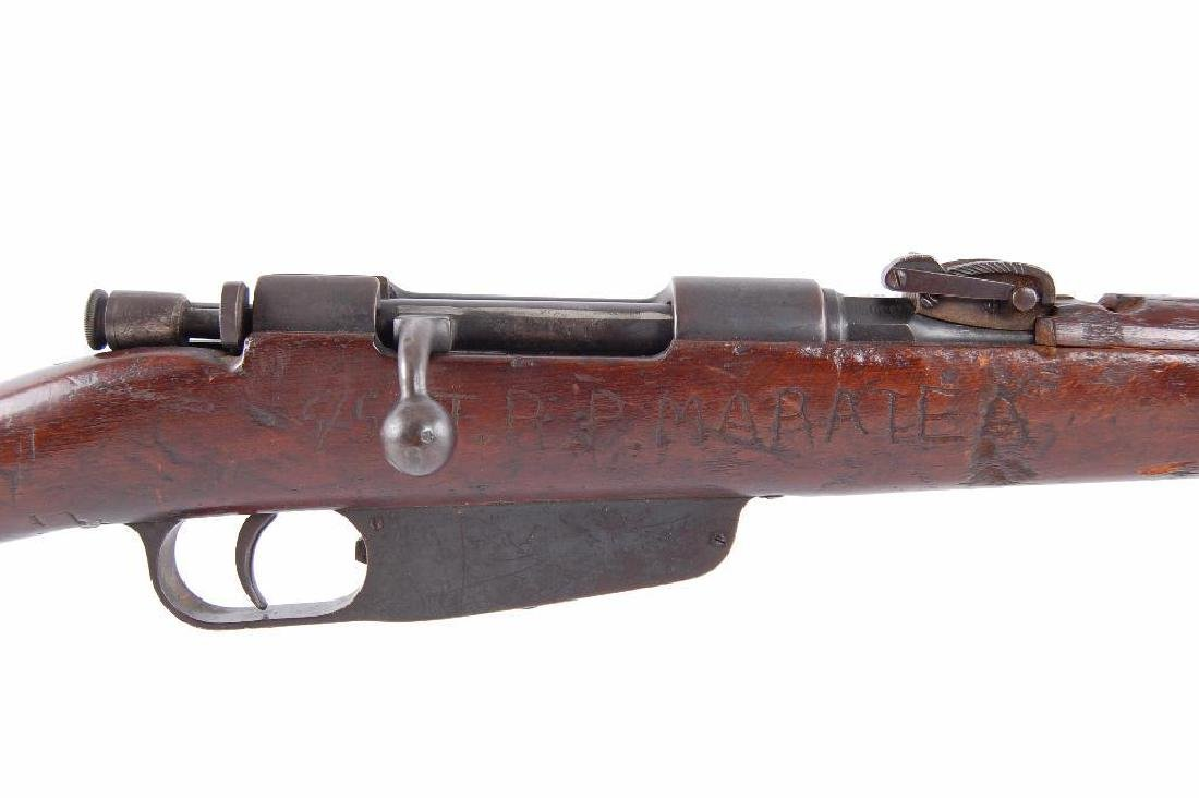 ID WW2 Carcano 7.35mm Bolt Action Rifle with Hand - 3