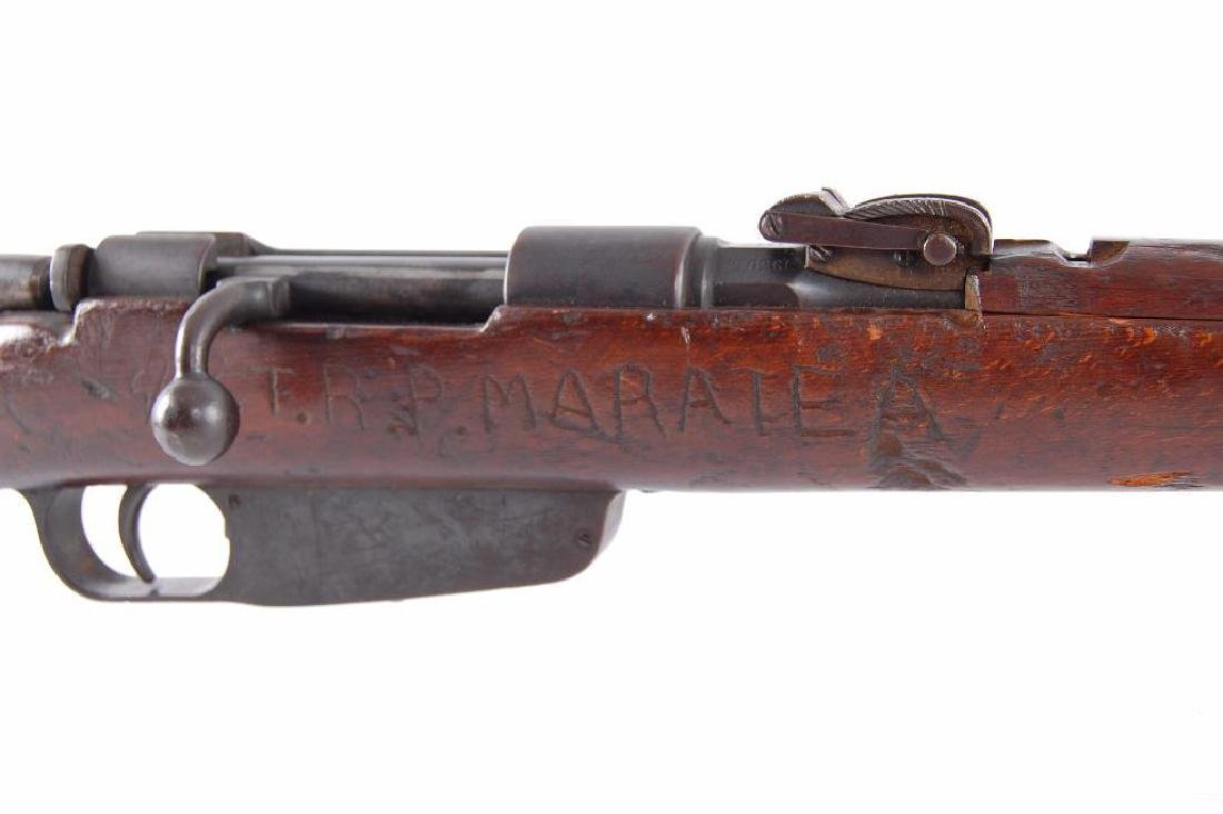 ID WW2 Carcano 7.35mm Bolt Action Rifle with Hand - 4