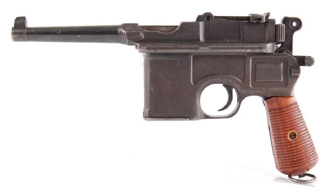 WW2 German Waffenfabrik Broom Handle Mauser 7.63mm Semi