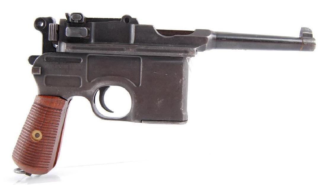 WW2 German Waffenfabrik Broom Handle Mauser 7.63mm Semi - 6