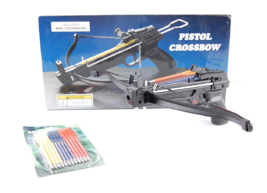 Jag-5000 Mini Pistol Crossbow with Bolts