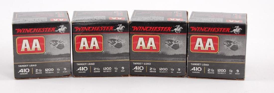 4 Full Boxes of Winchester AA Target Loads 410GA 2