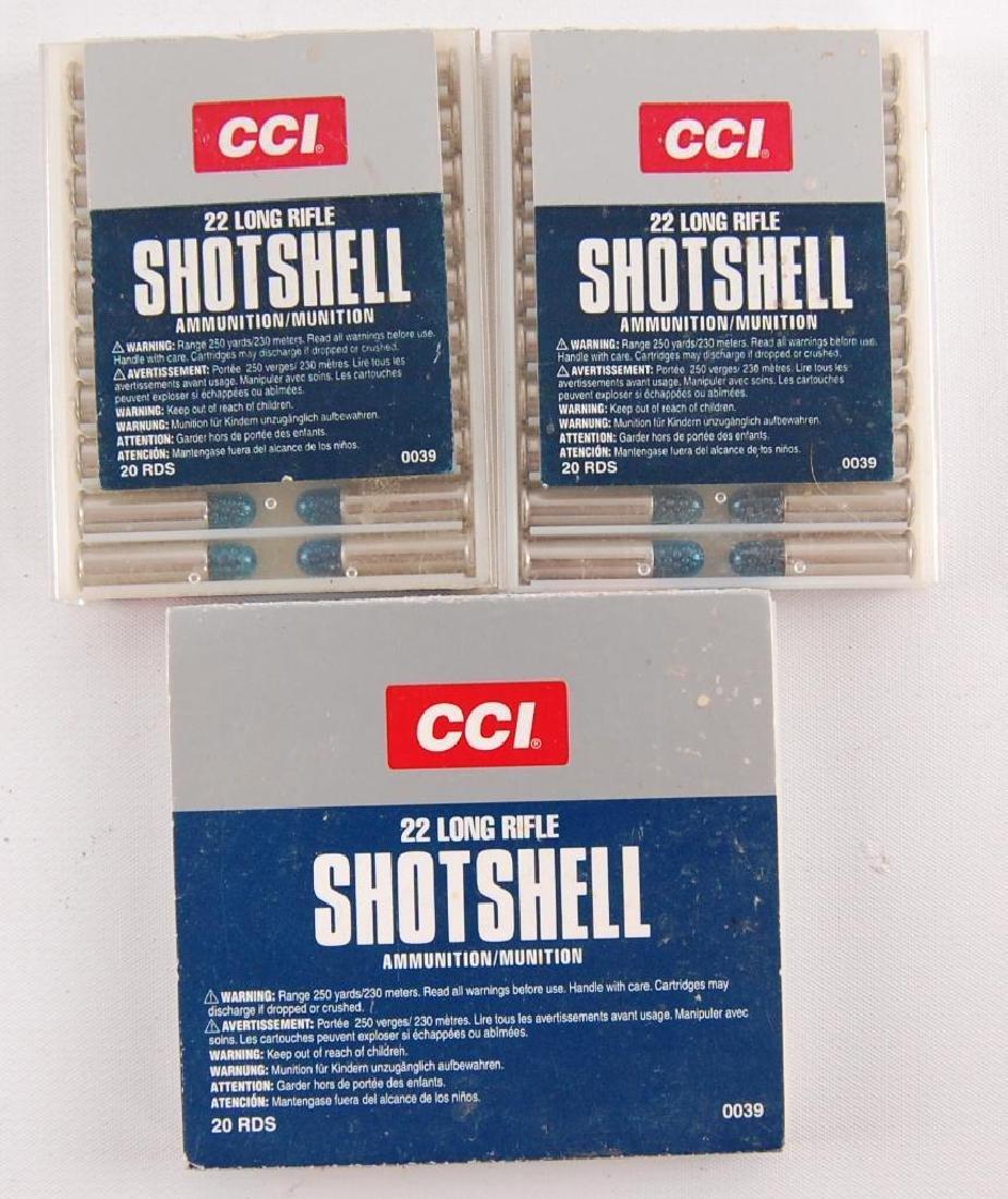 3 Full Boxes of .22 Long Rifle Shotshell Ammunition