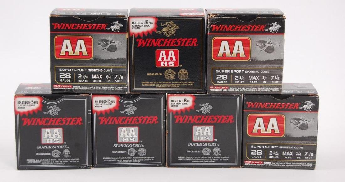 7 Boxes of Winchester 28GA 2 3/4 in. Shotgun Ammunition