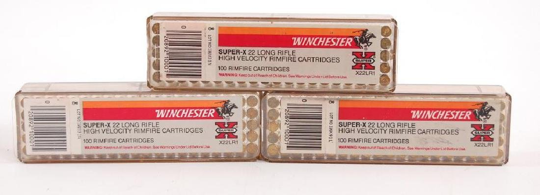 3 Full Boxes of Winchester Super X .22 Long Rifle High