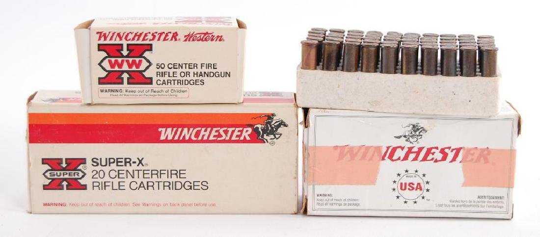 4 Full and Partial Boxes of Winchester Ammunition