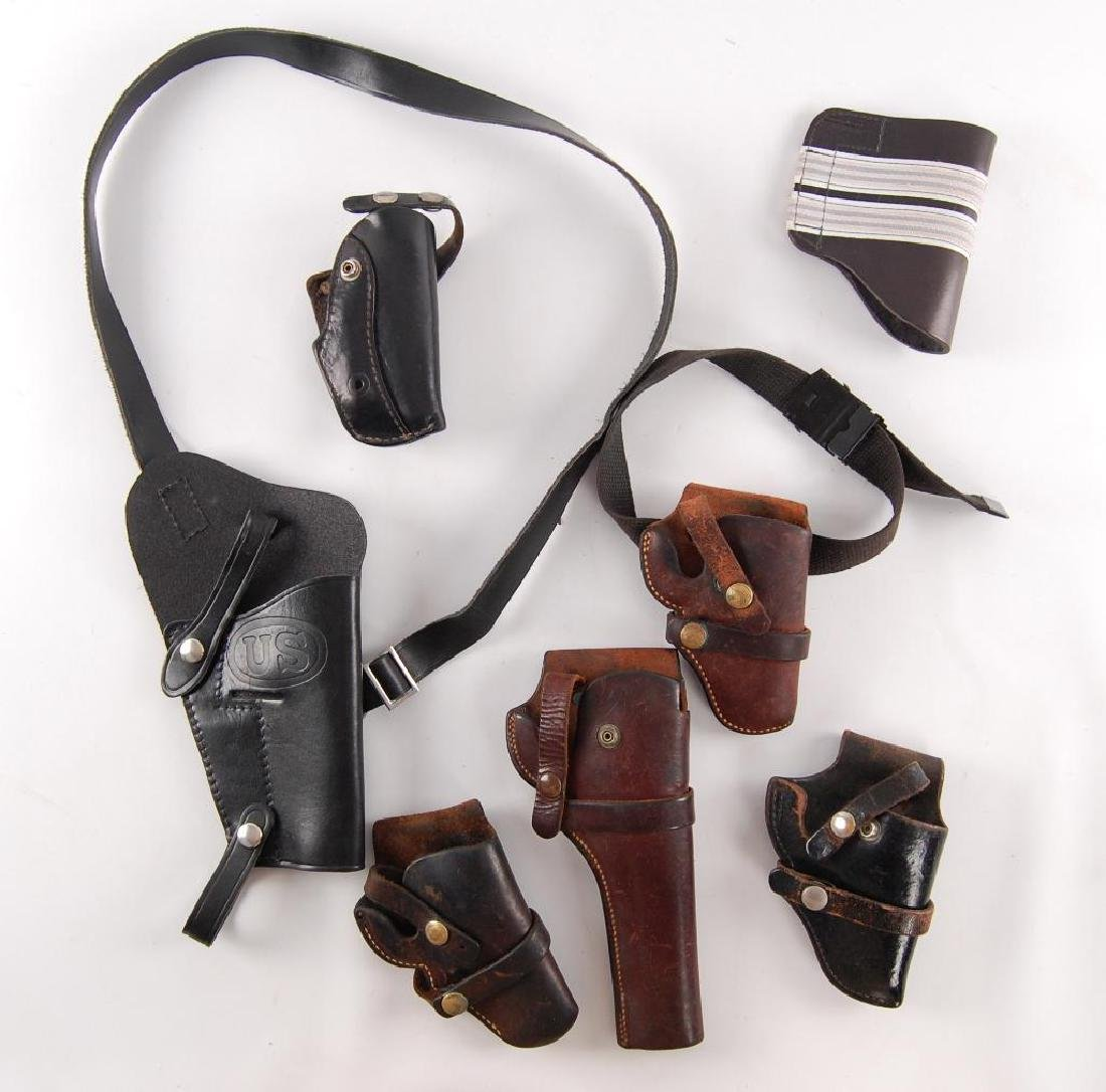 Group of 7 Leather Holsters
