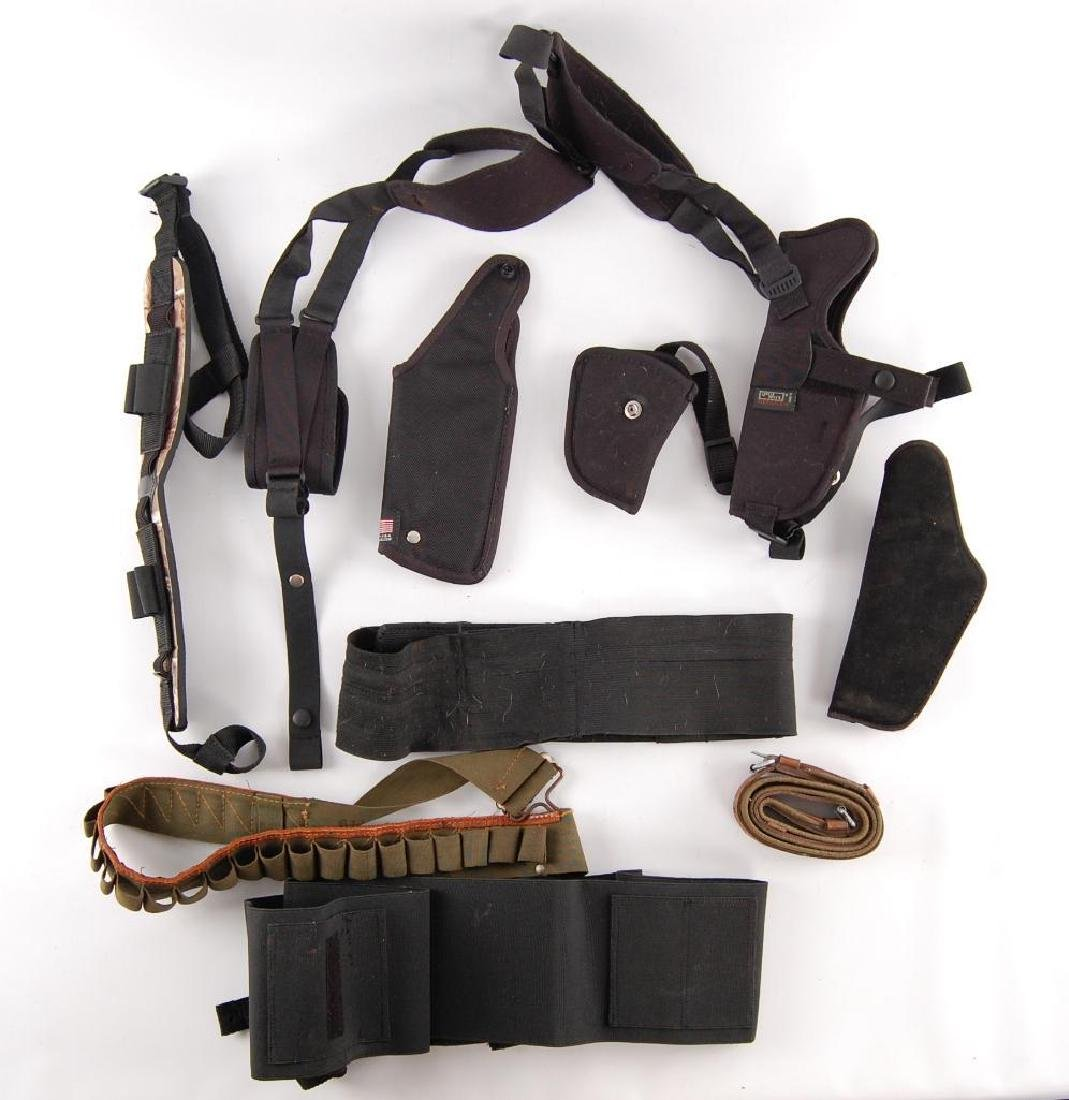 Group of Holsters and Straps