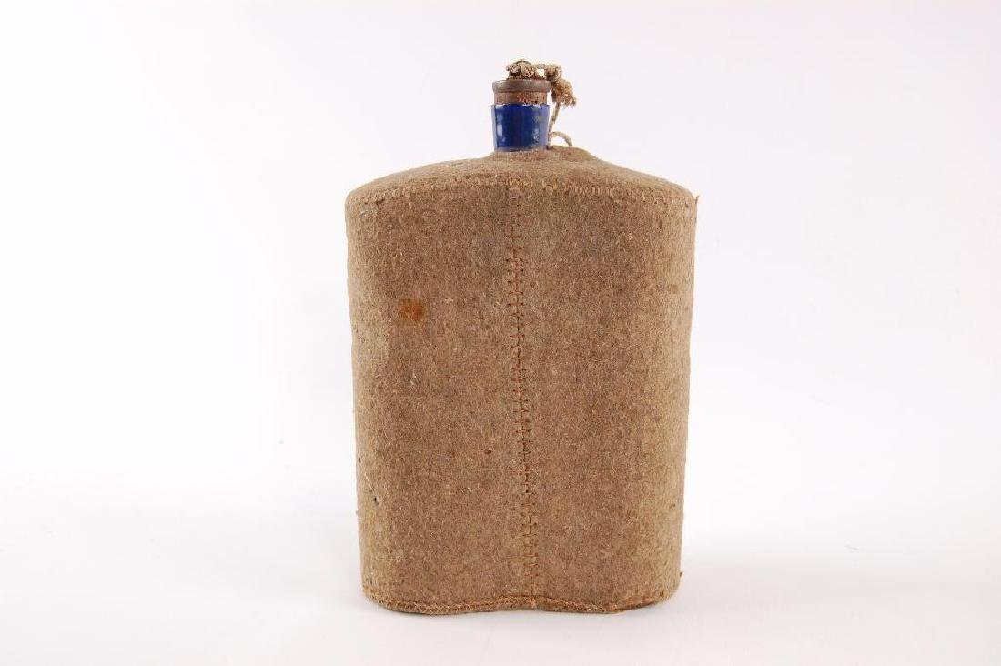 Antique Enamuel Ware U.S. Army Canteen with Wool Cover - 2