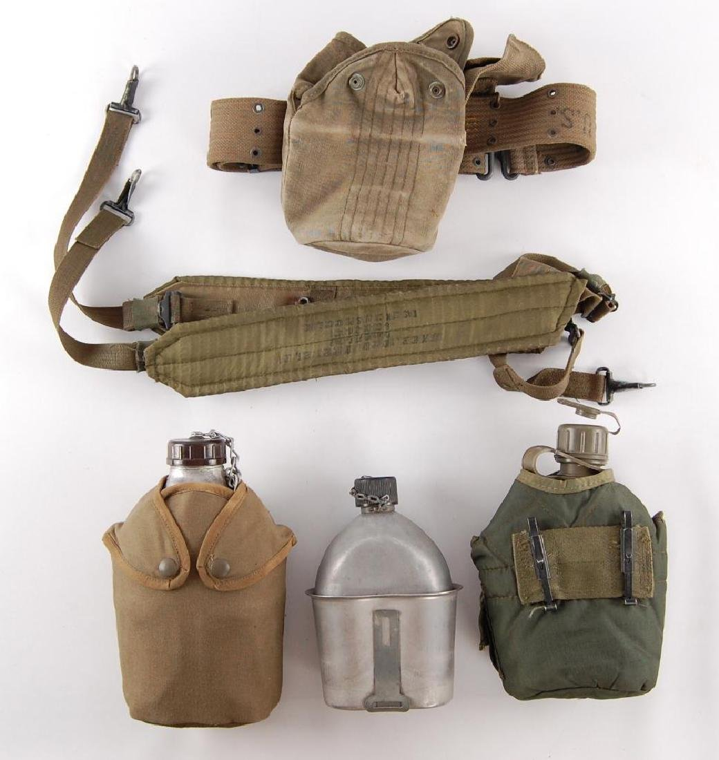 Group of US Army Caneens and Straps