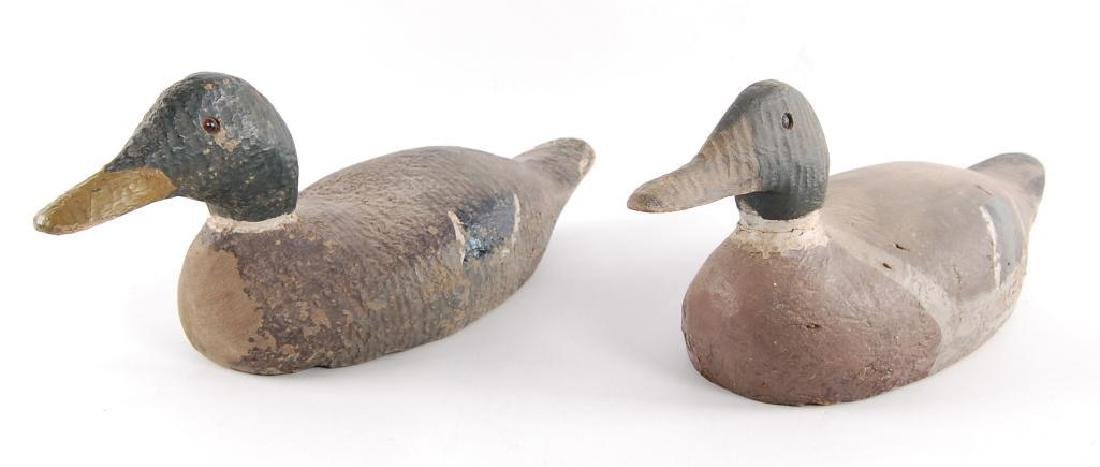 Group of 2 Vintage Wood Duck Decoys