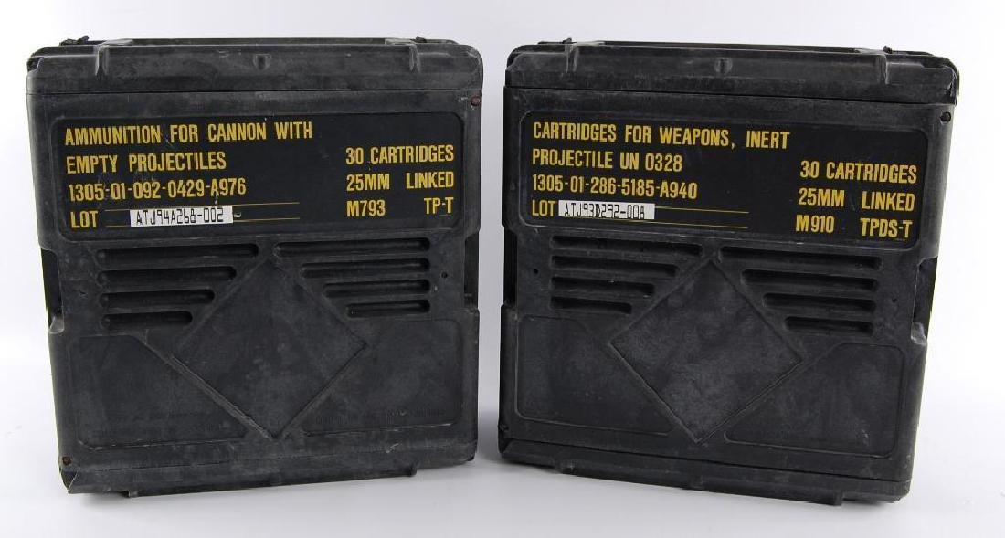 Group of 2 25mm Ammunition Plastic Crates