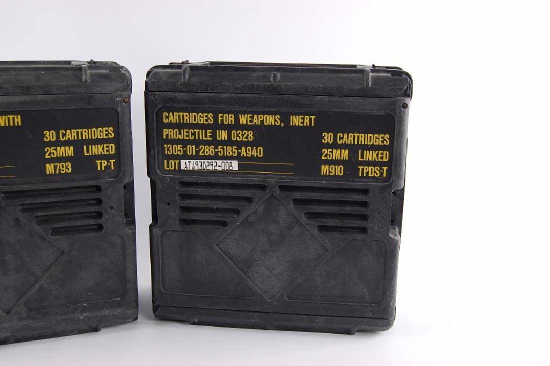 Group of 2 25mm Ammunition Plastic Crates - 2