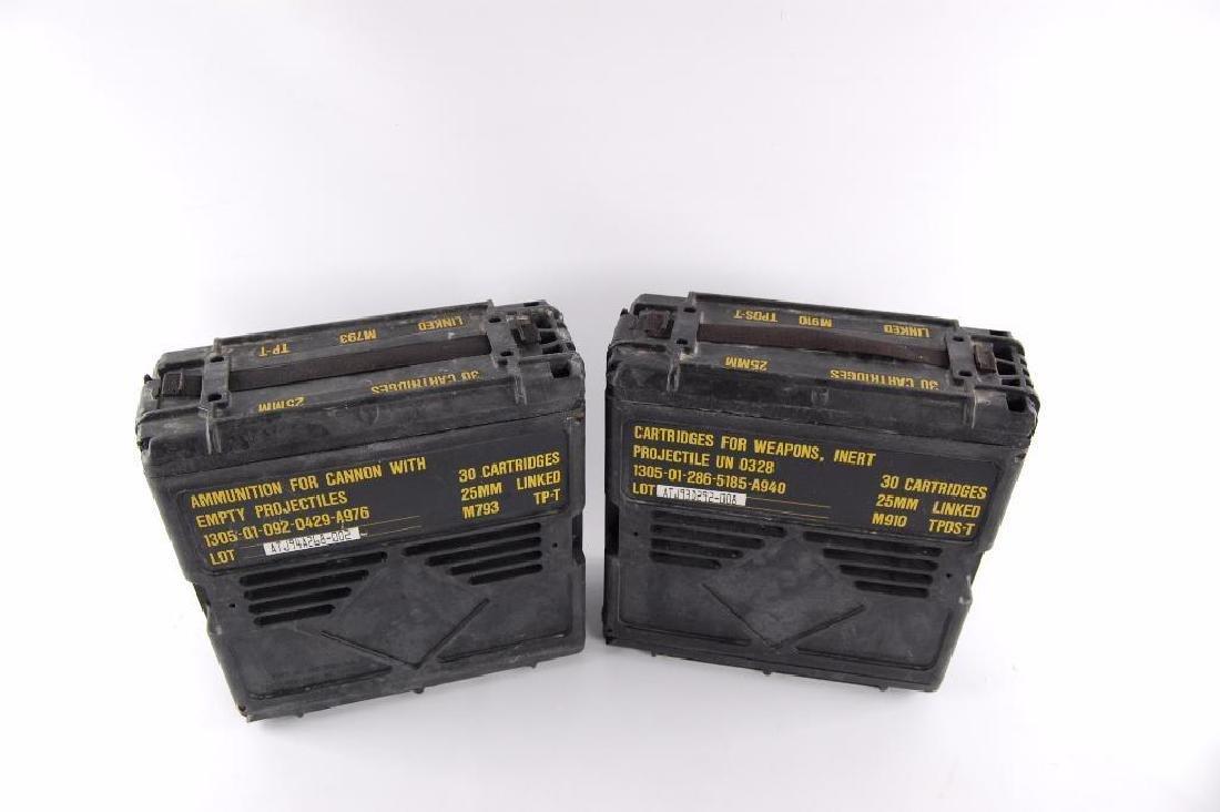 Group of 2 25mm Ammunition Plastic Crates - 3