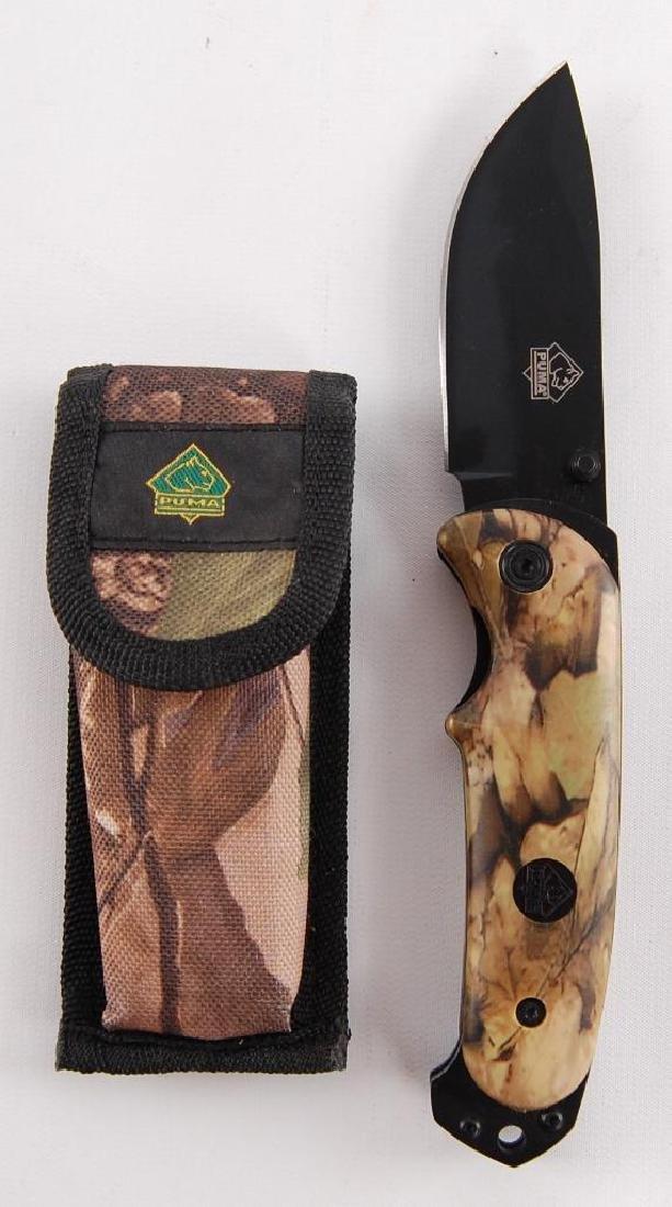Puma 8 1/2 Folding Pocket Knife with Holster
