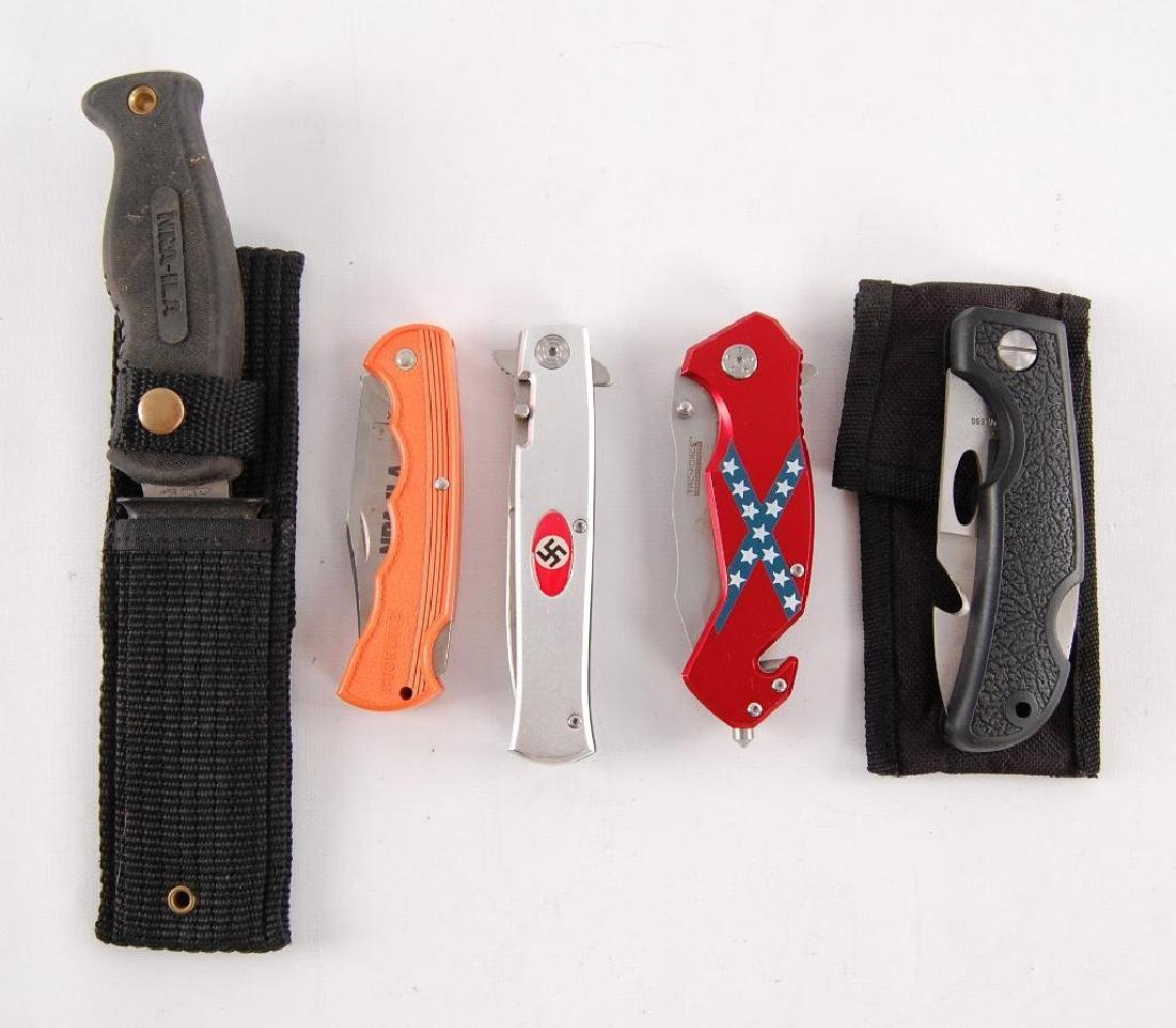 Group of 5 Knives Featuring Nazi Party, NRA, and The