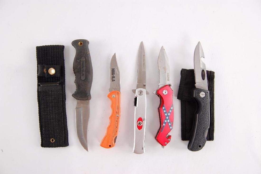 Group of 5 Knives Featuring Nazi Party, NRA, and The - 2
