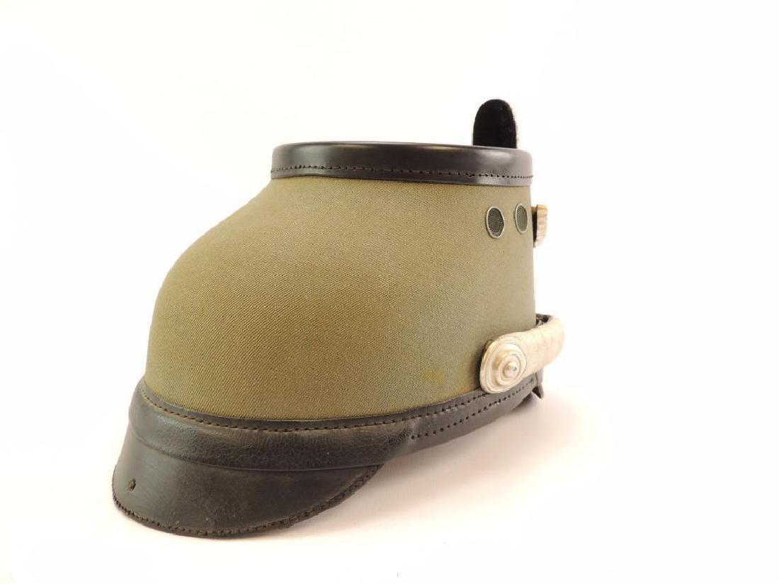 WW2 German Police Identified Officer's Gray Shako-Field - 4