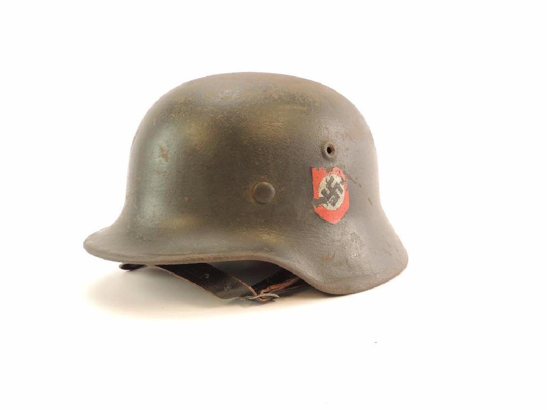 WW2 German SS Helmet with Double Sided Decals - 4