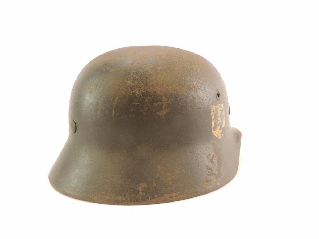 WW2 German SS Helmet with Double Sided Decals - 7