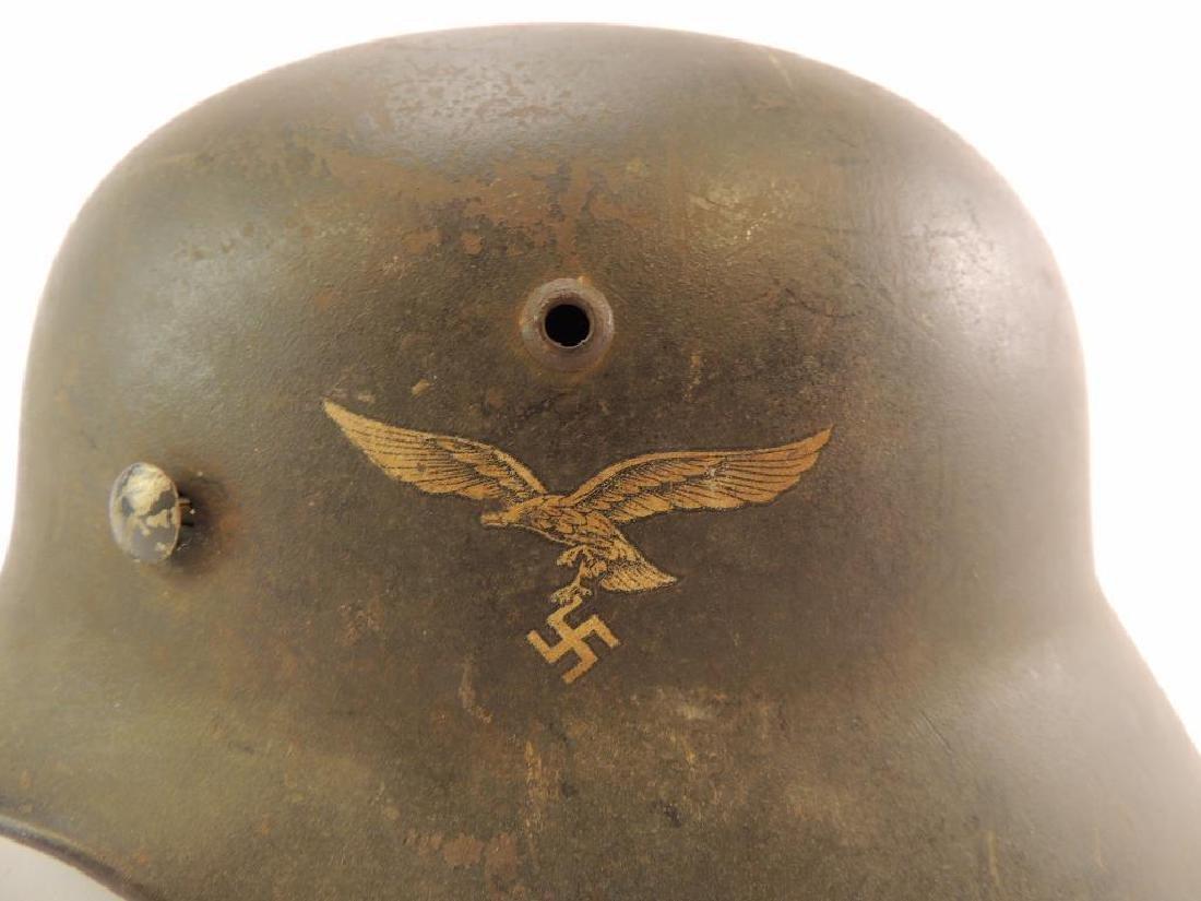 WW2 German Luftwaffe Helmet with Decal - 2