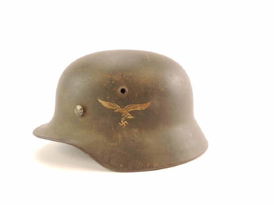 WW2 German Luftwaffe Helmet with Decal - 3