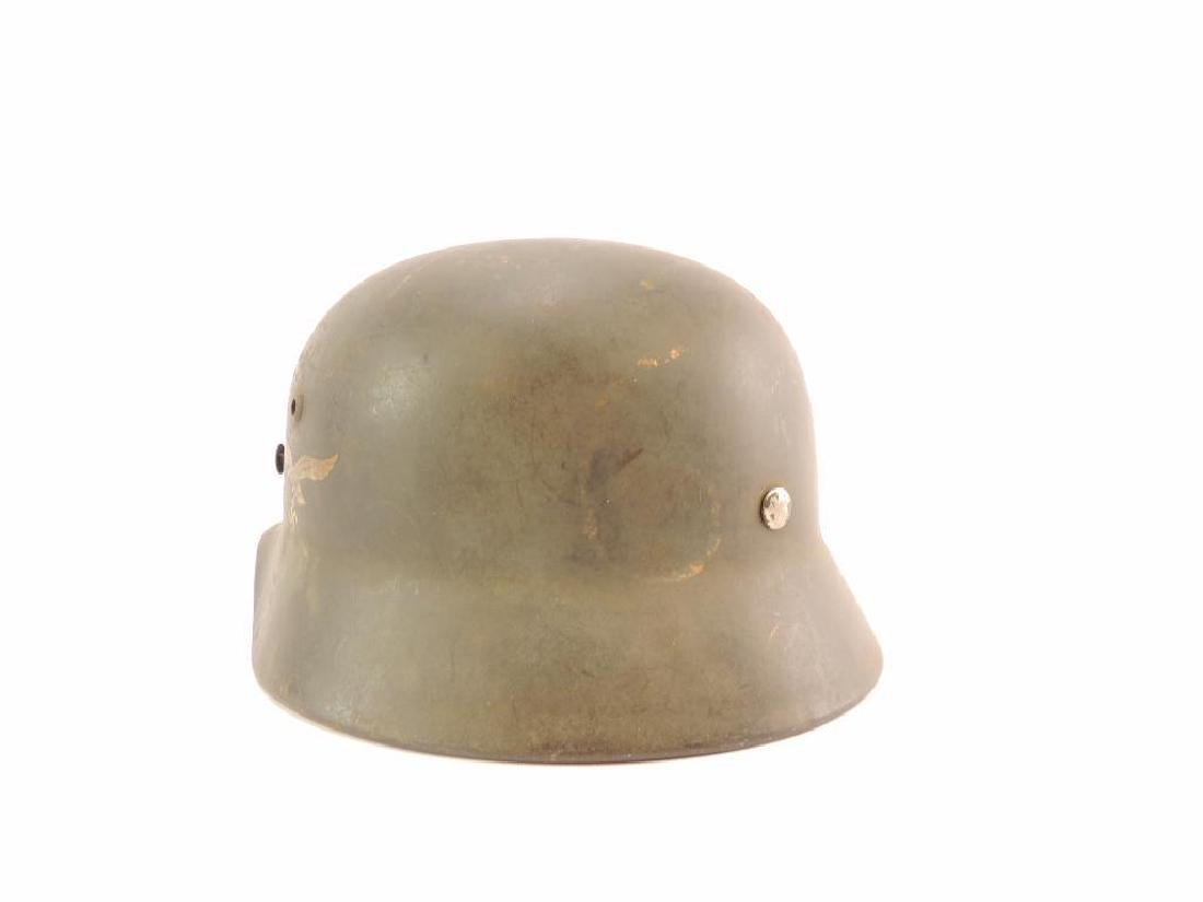 WW2 German Luftwaffe Helmet with Decal - 4
