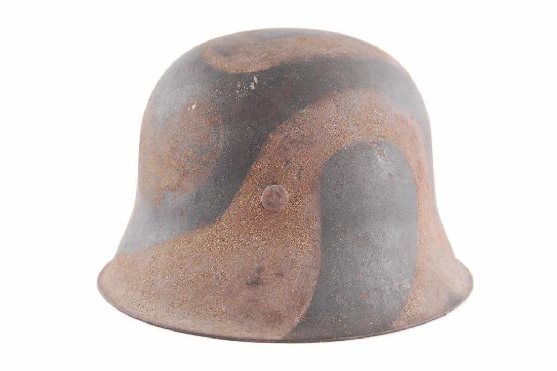 WW2 German Camoflage Helmet with Eagle and Swastika - 3