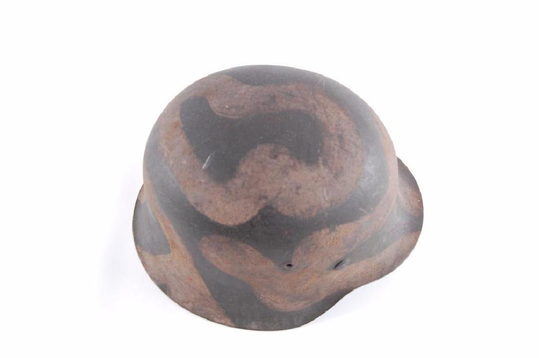 WW2 German Camoflage Helmet with Eagle and Swastika - 5
