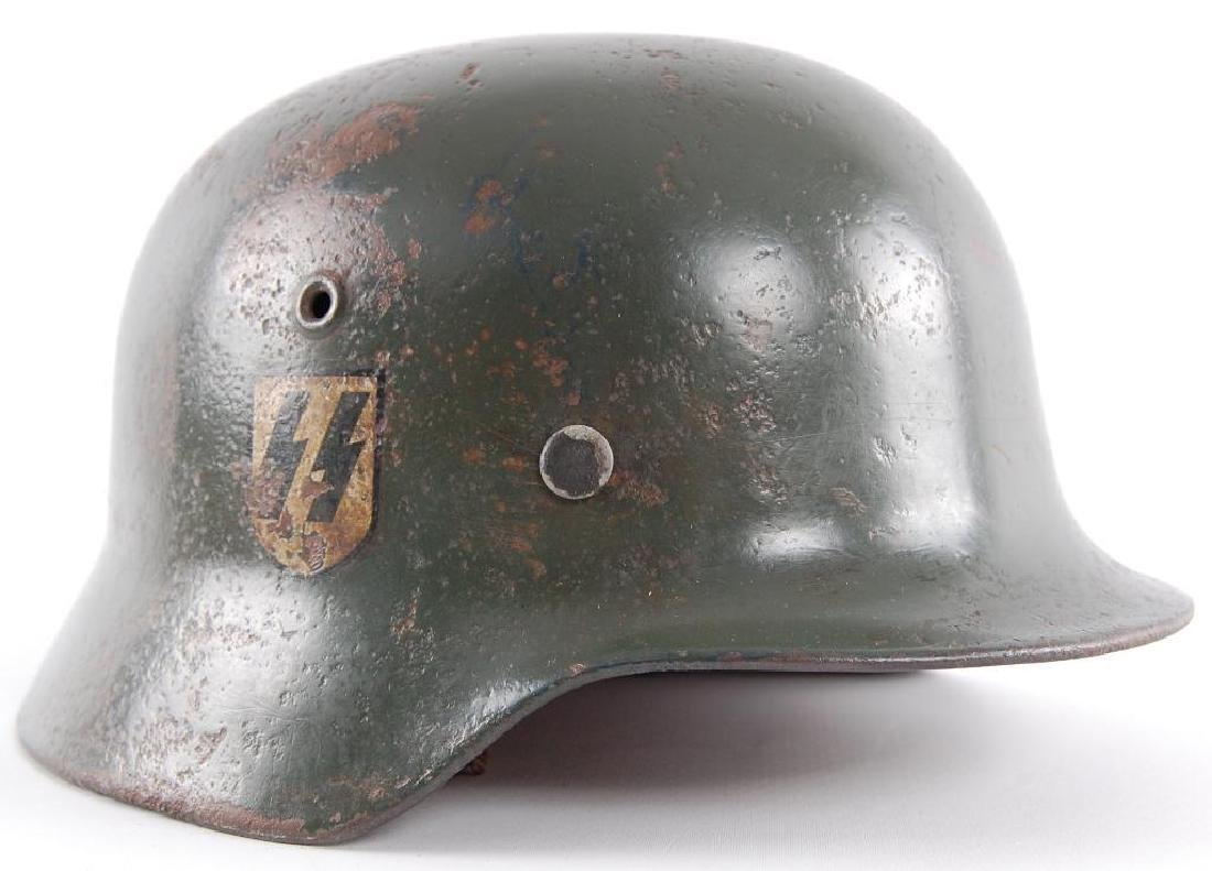 WW2 German Double Decal SS Helmet