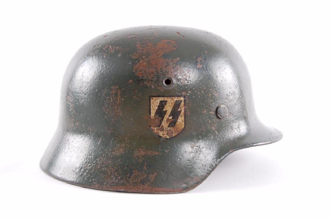 WW2 German Double Decal SS Helmet - 2