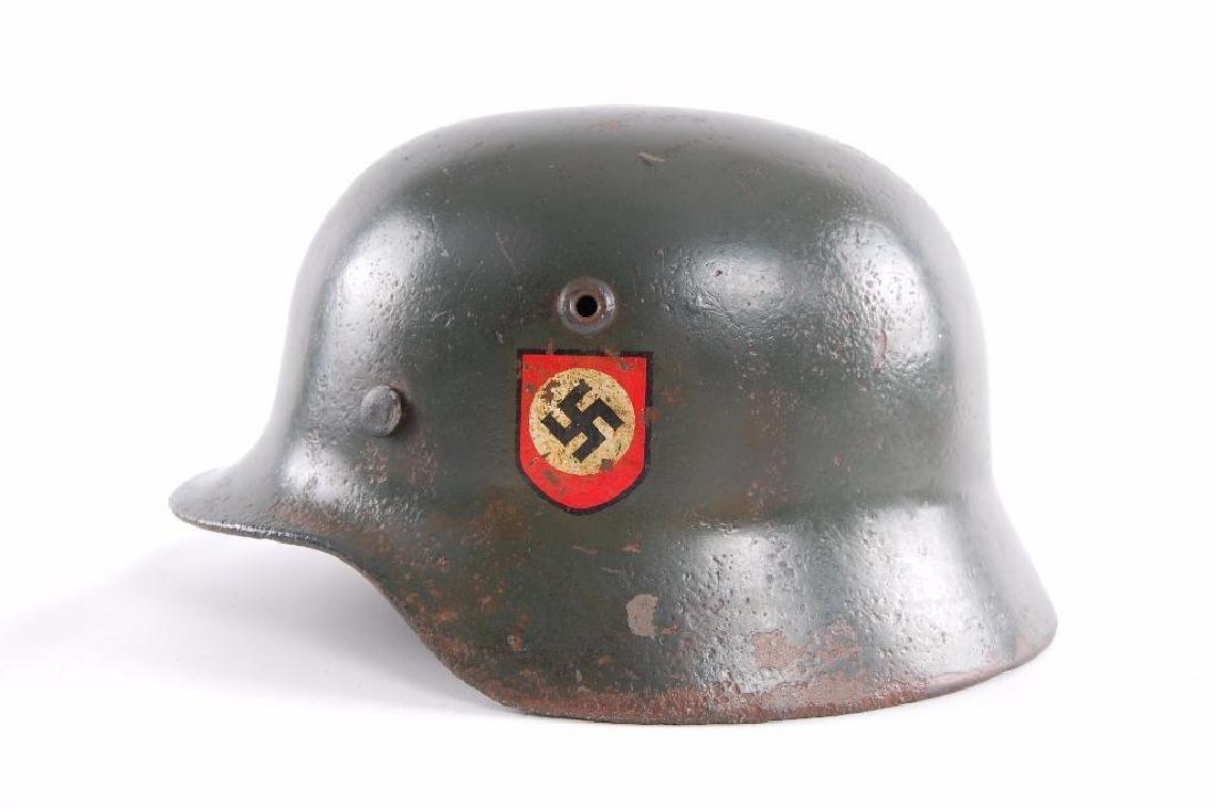 WW2 German Double Decal SS Helmet - 4