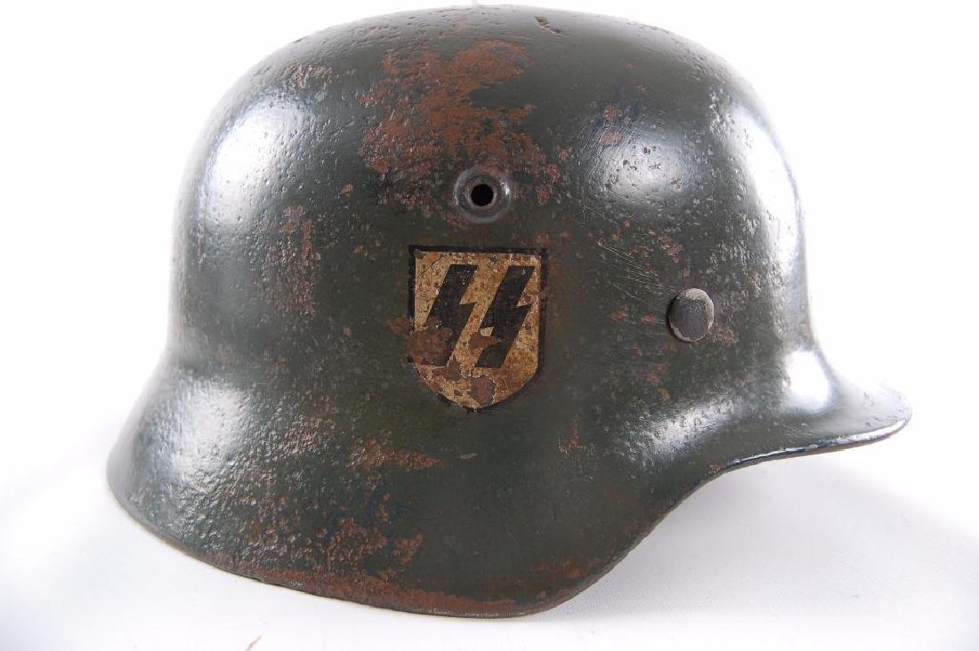 WW2 German Double Decal SS Helmet - 6