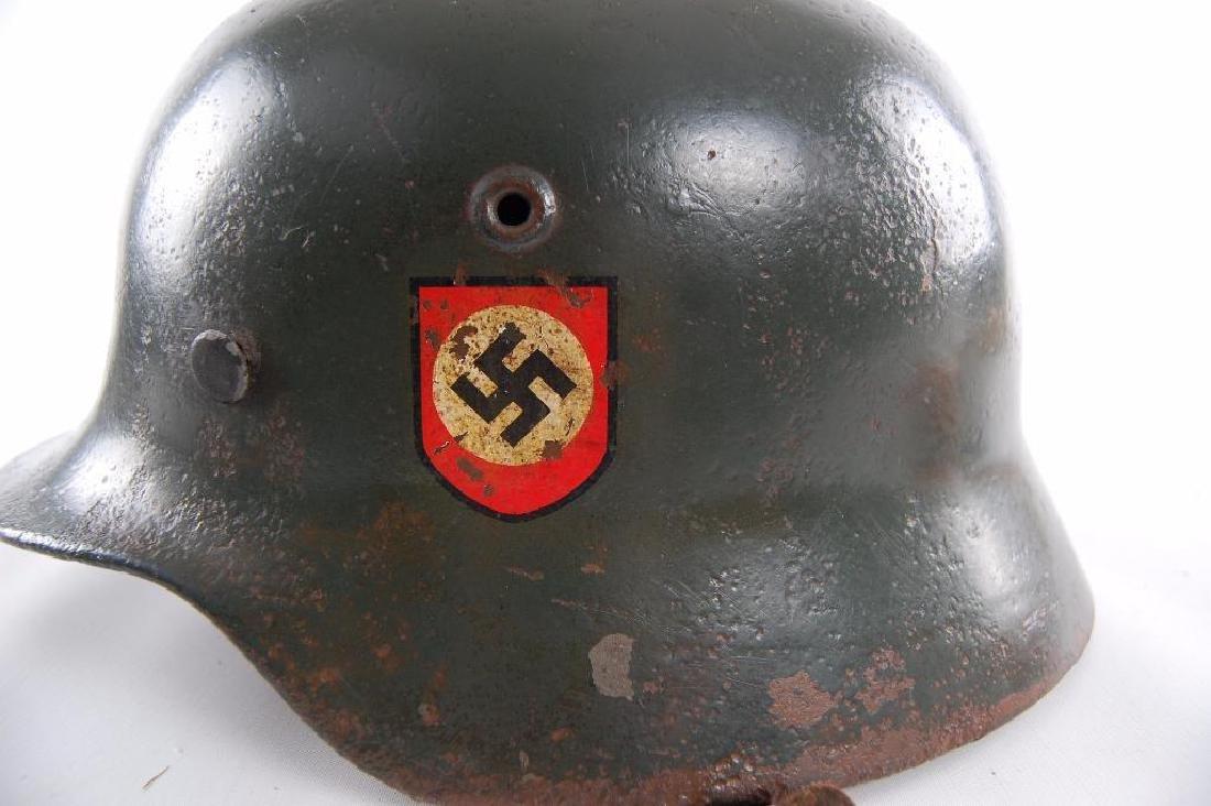 WW2 German Double Decal SS Helmet - 7