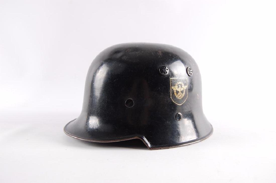 WW2 German Fire/Police Double Decal Helmet - 10