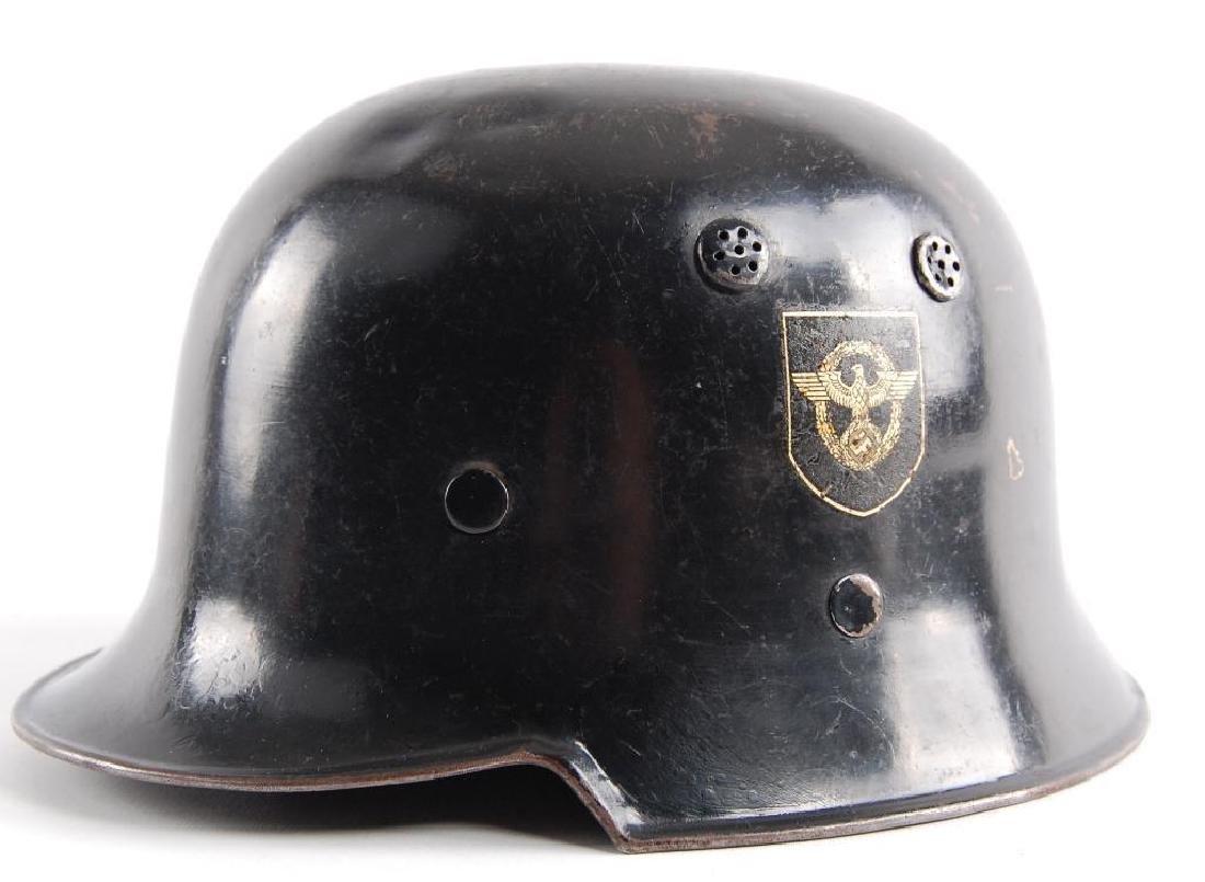 WW2 German Fire/Police Double Decal Helmet