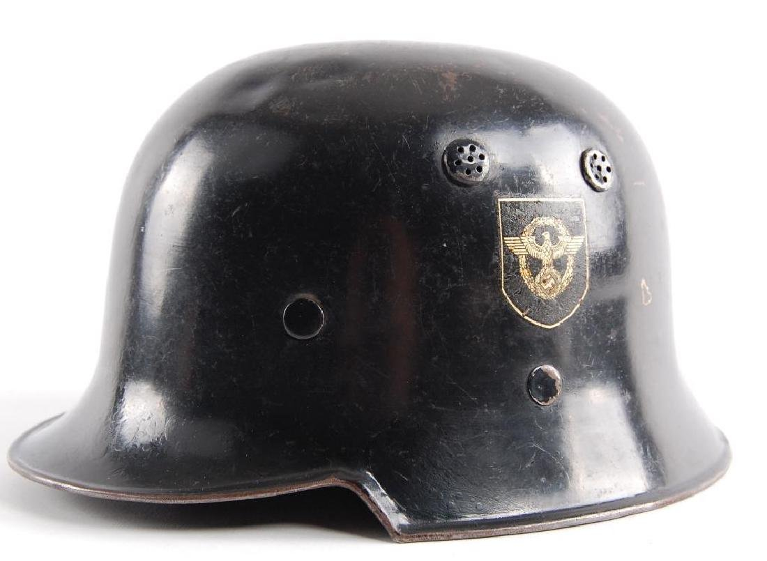 WW2 German Fire/Police Double Decal Helmet