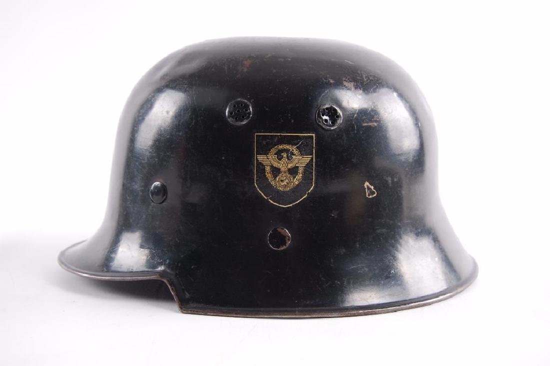 WW2 German Fire/Police Double Decal Helmet - 2