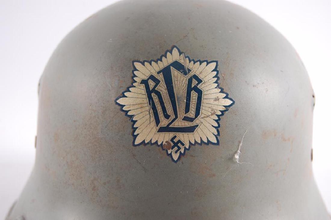 WW2 German RLB (Reichsluftschutzbund) Parade Helmet - 2