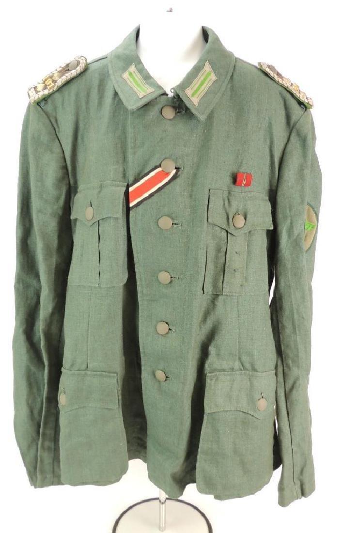 WW2 German Sgt. Major Summer Field Tunic with Shoulder