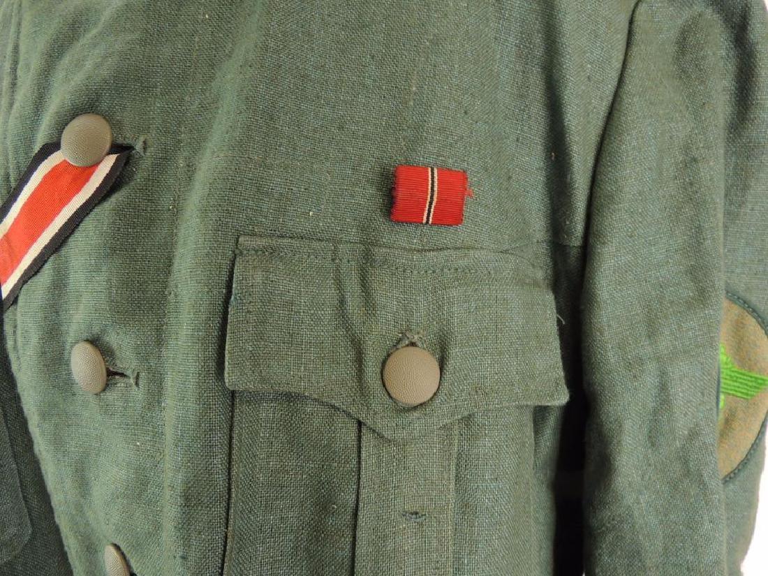 WW2 German Sgt. Major Summer Field Tunic with Shoulder - 6