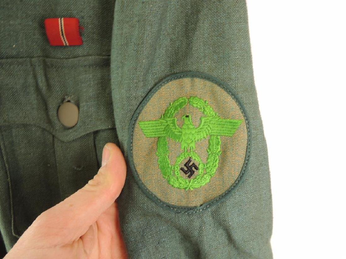 WW2 German Sgt. Major Summer Field Tunic with Shoulder - 7