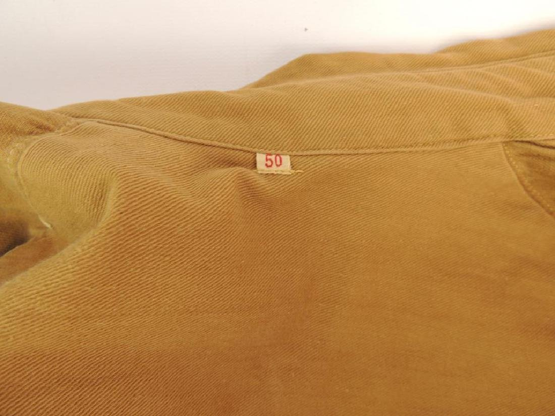WW2 German NSSK Brown Twill Shirt with Collar Tabs, - 10
