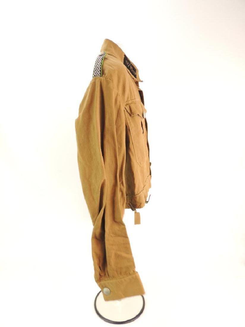 WW2 German NSSK Brown Twill Shirt with Collar Tabs, - 8