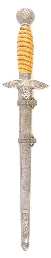 WW2 German Luftwaffe 2nd Model Dagger with Scabbard