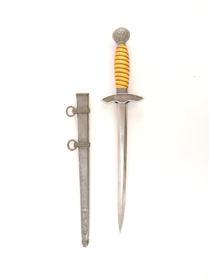 WW2 German Luftwaffe 2nd Model Dagger with Scabbard - 4