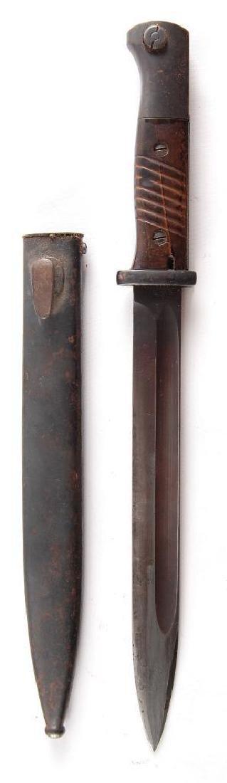 WW2 German Bayonet with Scabbard - 3