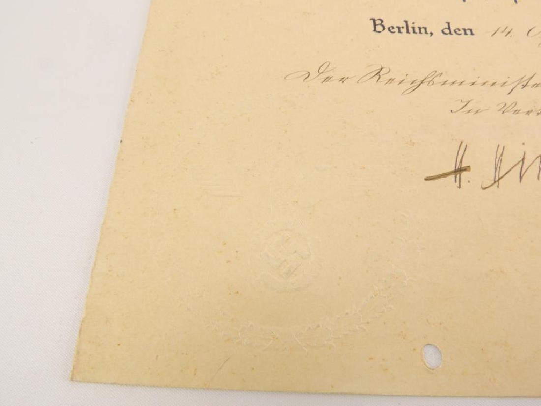 Heinrich Himmler WW2 German Signed Identified Promotion - 3